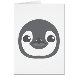 baby penguin face card