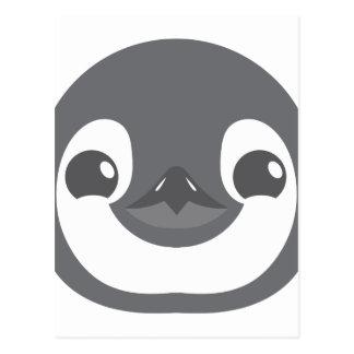 baby penguin face postcard