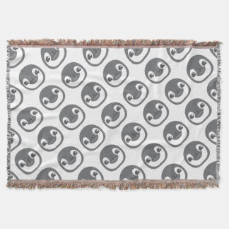 baby penguin face throw blanket