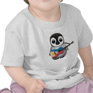 Baby Penguin Playing Filipino Flag Guitar T Shirt
