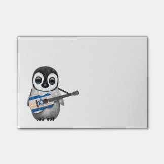Baby Penguin Playing Israeli Flag Guitar Post-it® Notes