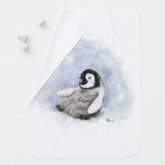 Baby Penguin Slipping Baby Blanket
