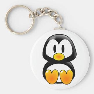 baby penguin tux basic round button keychain