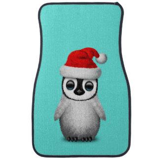 Baby Penguin Wearing a Santa Hat Car Mat