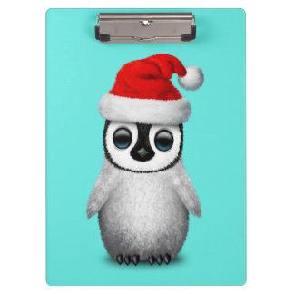 Baby Penguin Wearing a Santa Hat Clipboard