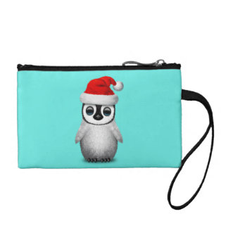 Baby Penguin Wearing a Santa Hat Coin Purse