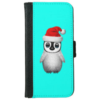 Baby Penguin Wearing a Santa Hat iPhone 6 Wallet Case