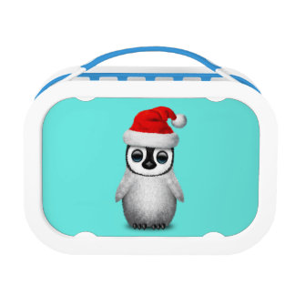 Baby Penguin Wearing a Santa Hat Lunch Box