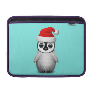 Baby Penguin Wearing a Santa Hat Sleeve For MacBook Air