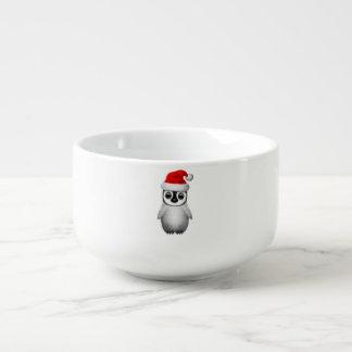 Baby Penguin Wearing a Santa Hat Soup Mug