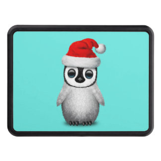 Baby Penguin Wearing a Santa Hat Trailer Hitch Cover