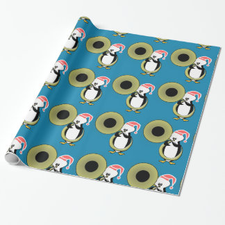 Baby Penguin with Tuba Wrapping Paper