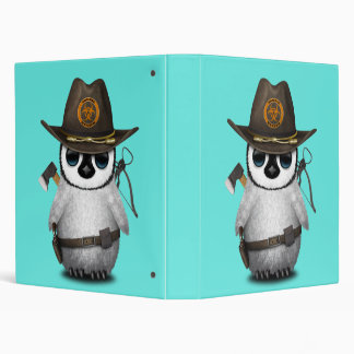 Baby Penguin Zombie Hunter Binder