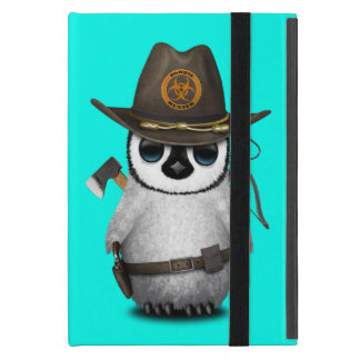 Baby Penguin Zombie Hunter iPad Mini Cover