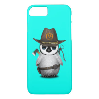 Baby Penguin Zombie Hunter iPhone 8/7 Case