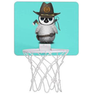 Baby Penguin Zombie Hunter Mini Basketball Hoop