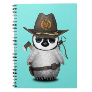 Baby Penguin Zombie Hunter Notebooks