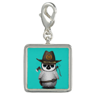 Baby Penguin Zombie Hunter Photo Charm