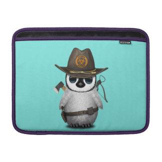 Baby Penguin Zombie Hunter Sleeve For MacBook Air