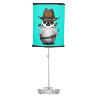 Baby Penguin Zombie Hunter Table Lamp