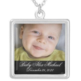 Baby Photo Gift Necklace - w/ Horizontal Photo