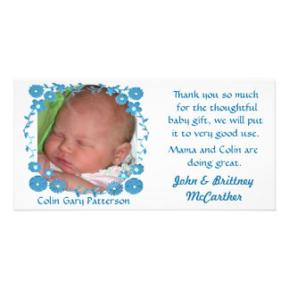 Baby photo thank you cards