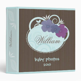 Baby Photos Floral Decor Binder