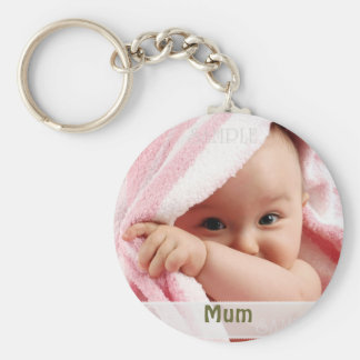 Baby Picture For Mum, Key Ring Gift Basic Round Button Keychain