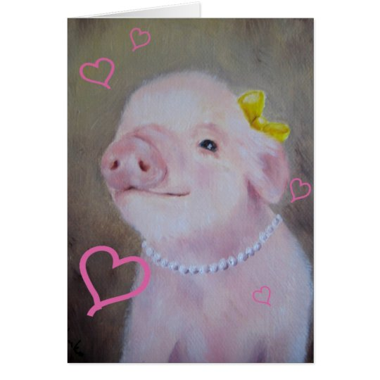 Baby Piggy Valentine's Day Card