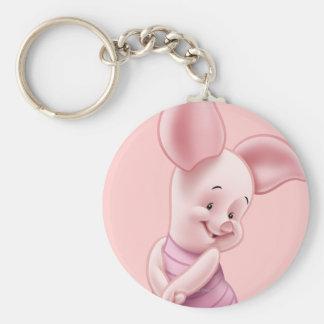 Baby Piglet Basic Round Button Keychain