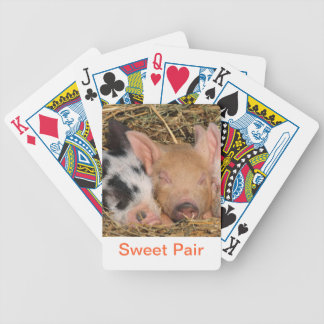Baby Piglet Pig Playing Cards
