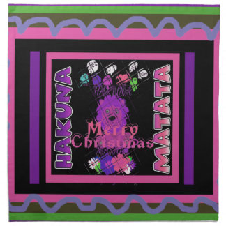 Baby pink Beautiful Merry Christmas Hakuna Matata Napkin