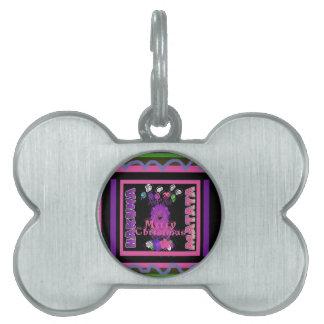 Baby pink Beautiful Merry Christmas Hakuna Matata Pet ID Tag