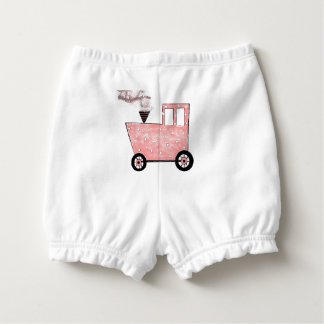 Baby Pink Caboose Train Diaper Cover