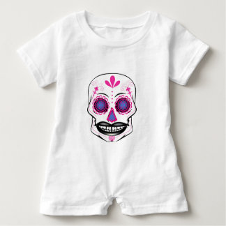 Baby Pink Candy Skull Romper
