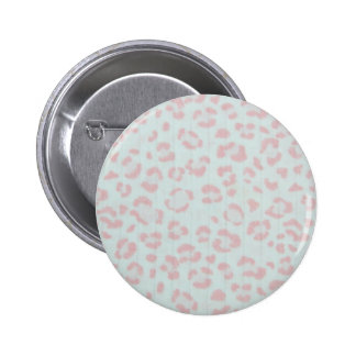 baby pink cheetah animal jungle print 2 inch round button
