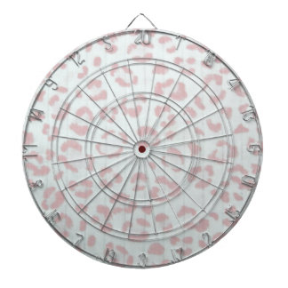 baby pink cheetah animal jungle print dartboard