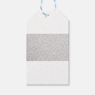 baby pink cheetah animal jungle print gift tags