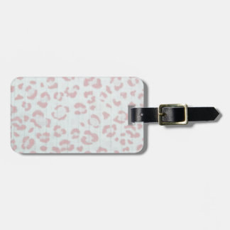 baby pink cheetah animal jungle print luggage tag