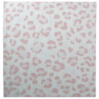 baby pink cheetah animal jungle print napkin