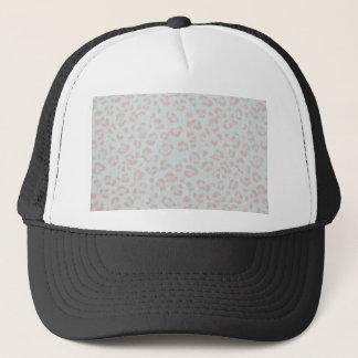 baby pink cheetah animal jungle print trucker hat