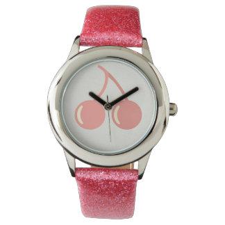 Baby Pink Cherry Watch