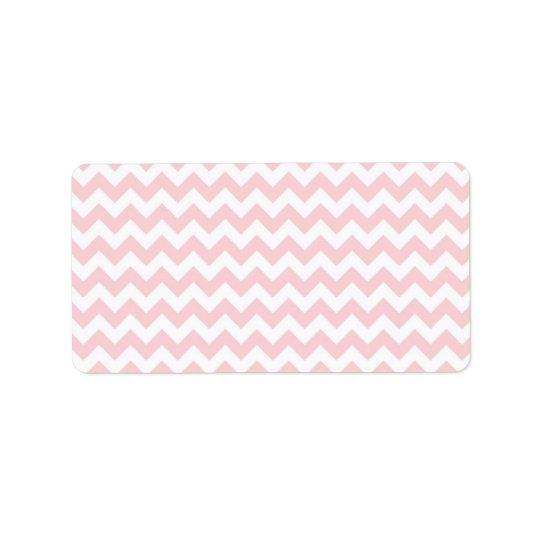 Baby Pink Chevron Label