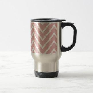 Baby Pink Chevron Pattern 2 Travel Mug
