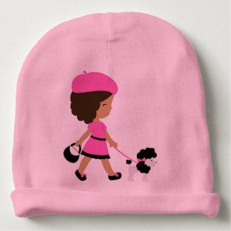 Baby Pink Cotton Beanie Baby Beanie