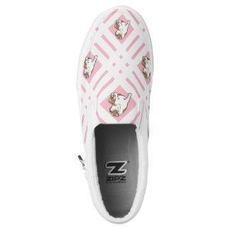 Baby Pink English Bulldog Slip-On Sneakers