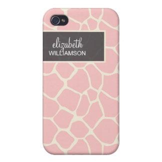 Baby Pink Giraffe Pern iPhone 4 Cases