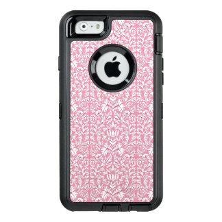 Baby Pink Kawaii Damask OtterBox Defender iPhone Case