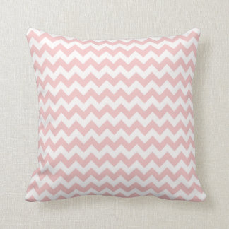 Baby Pink, Light Pink Chevron Stripes Throw Pillow