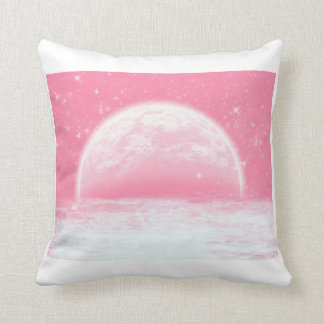 Baby Pink Moon Cloud with Twinkling Stars Pillow